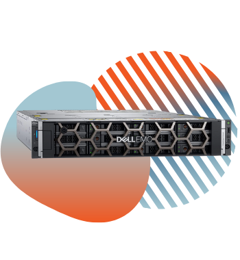 dell emc r740xd with pivit global branding icons