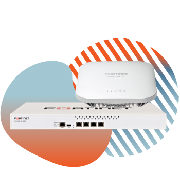 fortinet wireless hardware with pivit global branding icons