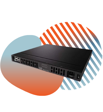 cisco isr router with pivit branding icons