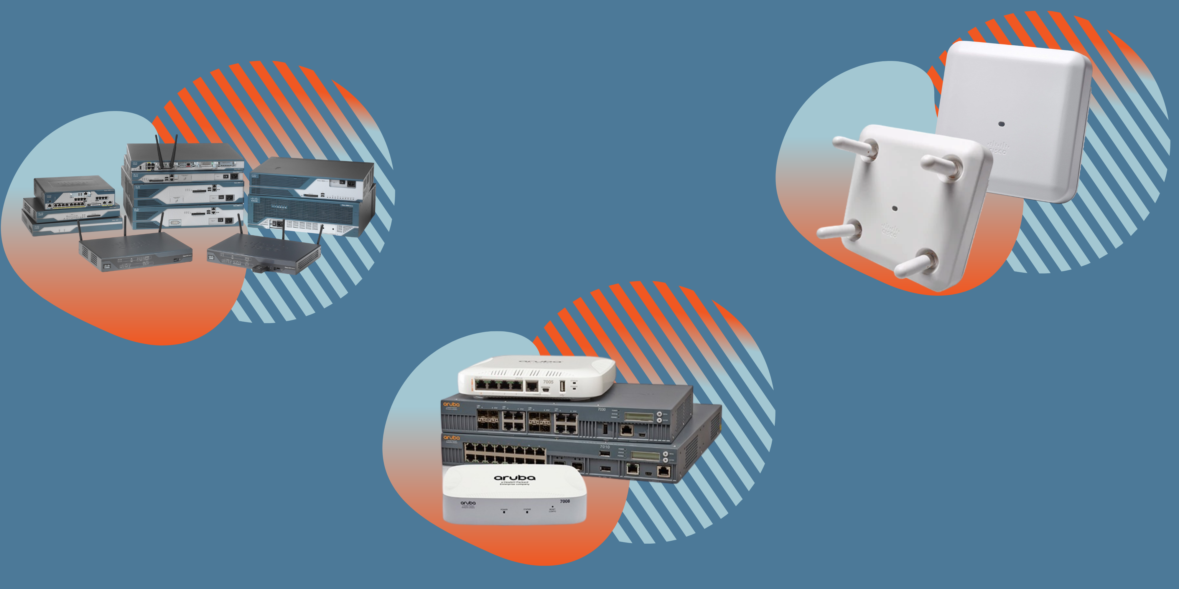 wireless infrastructure with pivit branding icons