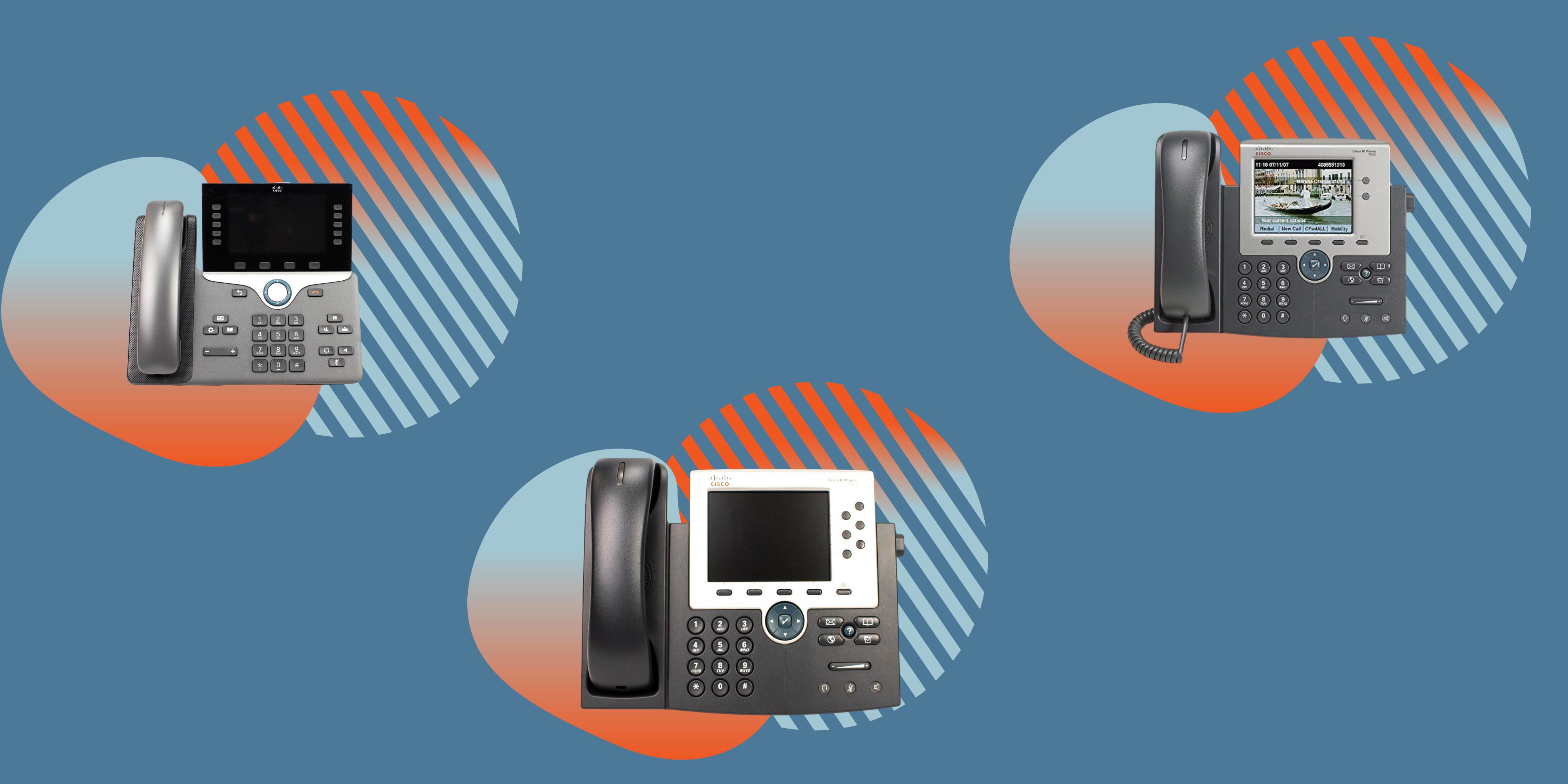 telephony equipment with pivit branding icons