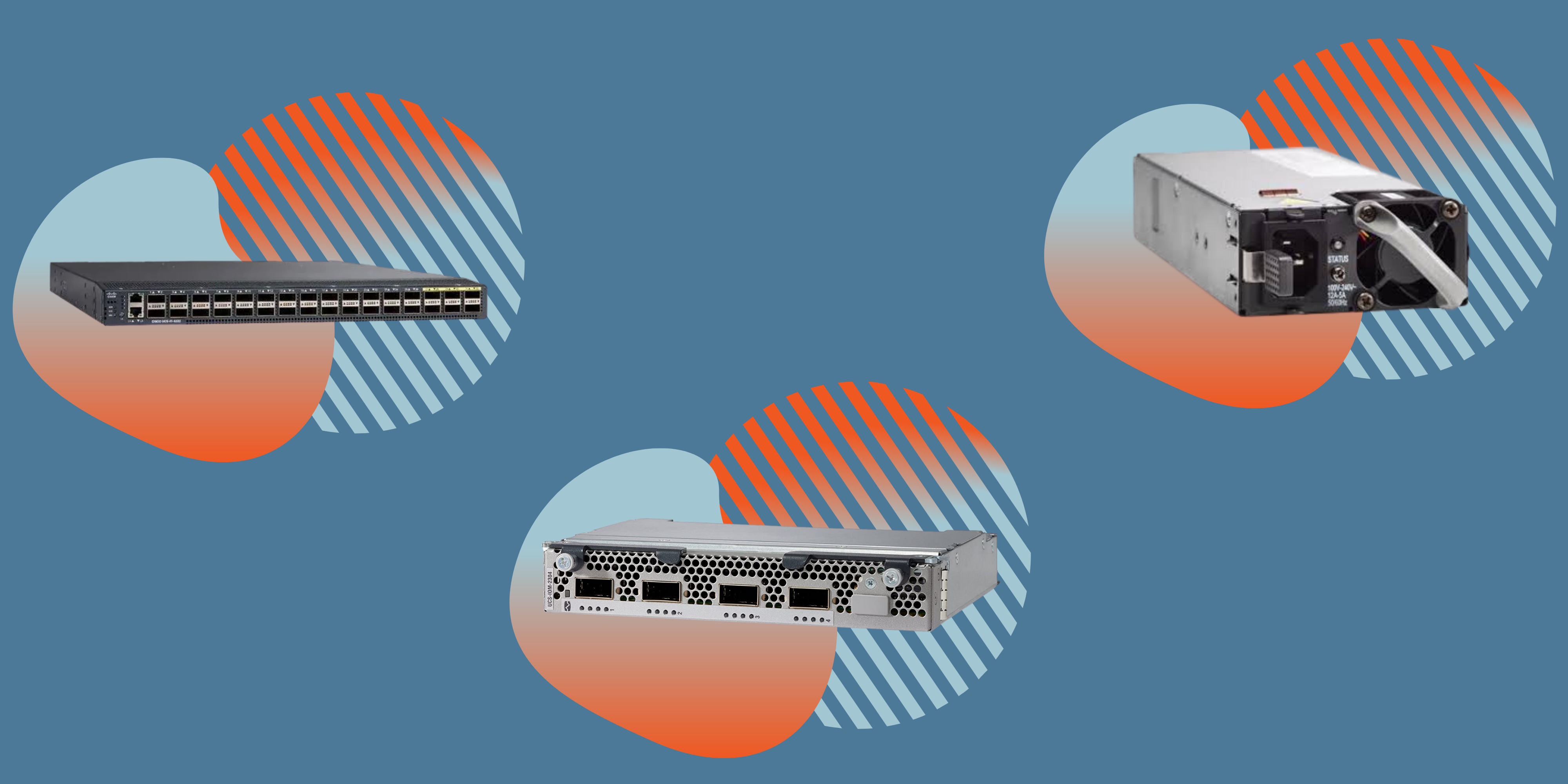 data center hardware with pivit global icons